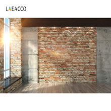 Laeacco Photo Backgrounds Room Brick Wall French Window Wooden Floor Sunshine Baby Interior Photographic Backdrops Studio