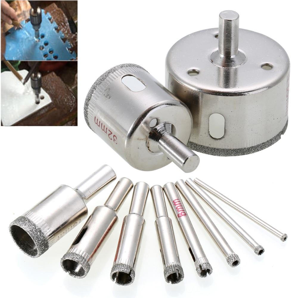Алмазная пила для сверления мраморных отверстий, 3-50 мм, 10 шт.