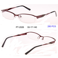 Free Shipping New Arrival Designer Glasses Spectacle Frame Metal Oculos Half Frame Glasses Women Unisex Eyeglasses