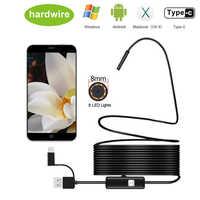 8,0mm Endoskop Kamera 1080 P HD USB Endoskop mit 8 LED 1/2/5/10 M flexible Kabel Wasserdichte Inspektion Endoskop für Android PC