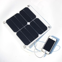 Portable 15W Waterproof Solar Charger Mobile Power Bank for Phone Battery Sunpower Solar Panel Charger Free Shipping