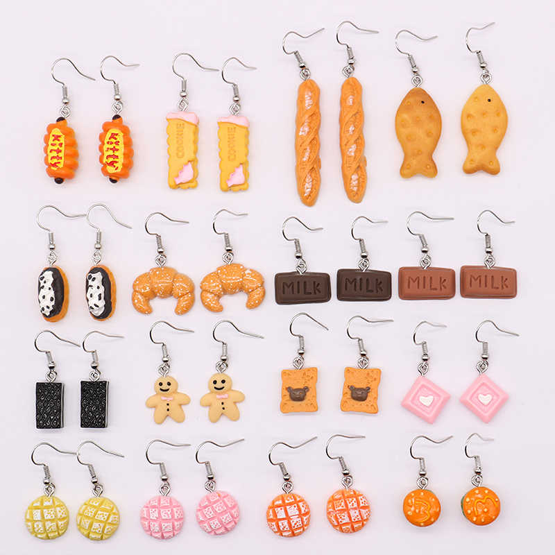 Interesting Personality Fashion Earrings Lovely Simulated Food Series Resin Earrings Suitable for Gifts