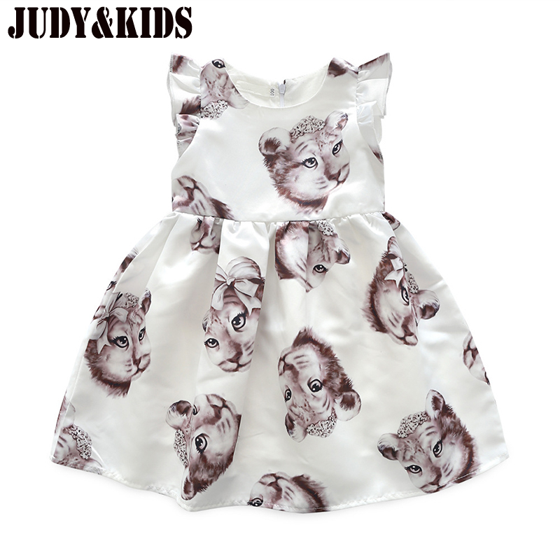Dresses For Girls Fancy Baby Cute Dress Clothes Animal Cat Print Children The Princess Dress Kids Clothing Sundress Summer Child corn bran baby crib bassinet 14 colors for choosing for 0 6 months little kids cradle cute and fancy for boys or girls hot