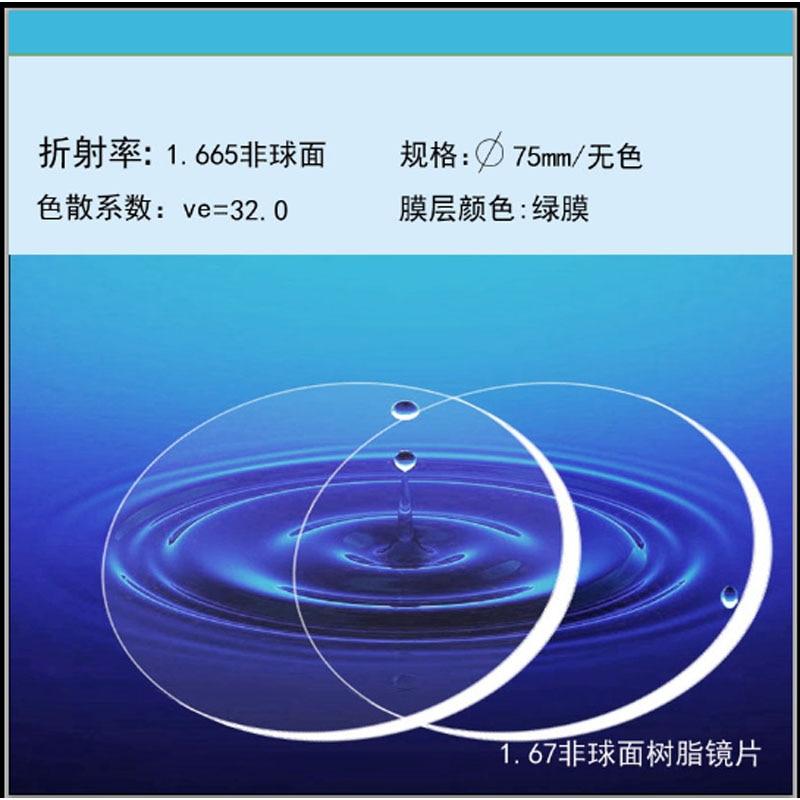 Lentille de résine de CR-39 d'index 1.67 clair lentille de revêtement réfléchissante UV de HMC verres optiques progressifs lentille anti-bleue de myopie de presbytie