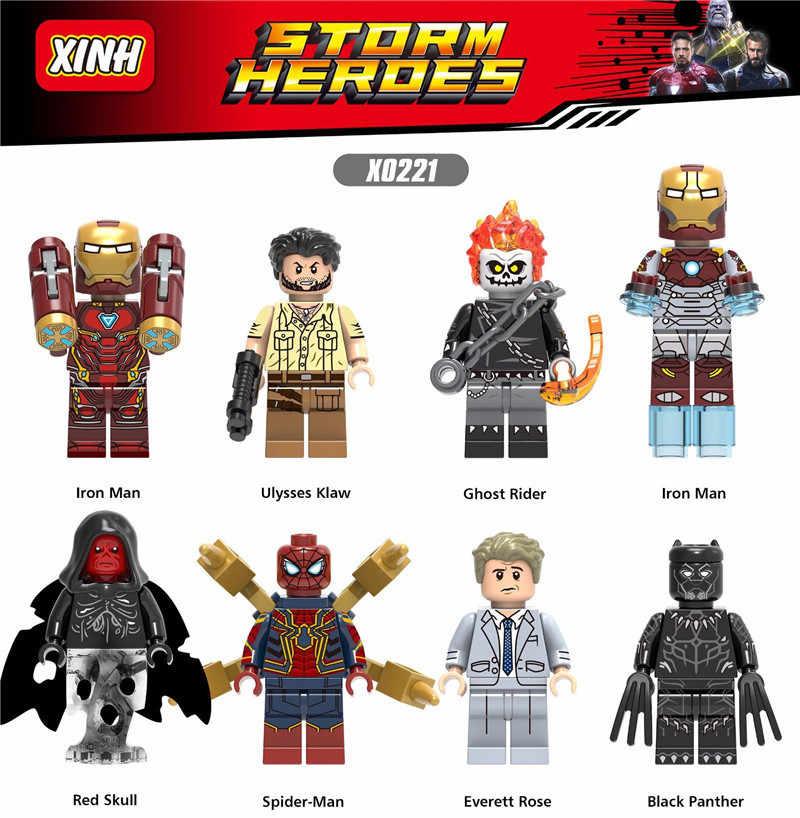 Super Heroes Iron Man Hulk Captain America Spiderman Batman Joker Spiderman Model Building Kits Toy For Children