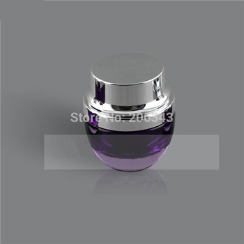 50G purple glass cream jar,cosmetic container,,cream jar,Cosmetic Jar with silver lid Cosmetic Packaging,glass bottle