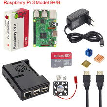 Raspberry Pi 3 Model B+ Plus Starter Kit + ABS Case + 16 32 GB SD Card + 3A Power Adapter + Cooling Fan + Heat Sink + HDMI Cable(China)