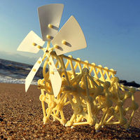 Free Shipping Puzzle Walking Hot Sale DIY Strandbeest Assembly Powerful Model Wind Powered Walker Kits Robot