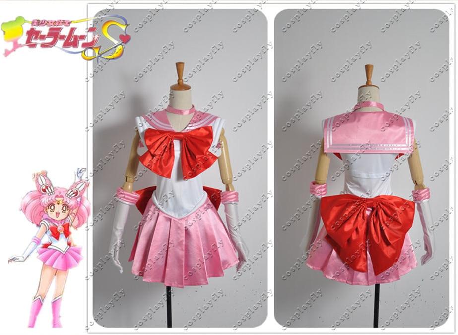 Sailor Moon Chibiusa Sailor Chibi Moon Cosplay Costume Custom Made Any Size Pink Girl Skirt