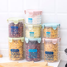 fd05620843d2 Kitchen Food container Seal pot tea coffee candy Storage Tank Plastic  Cereals Snacks Box cookie canister jars for spices jarra