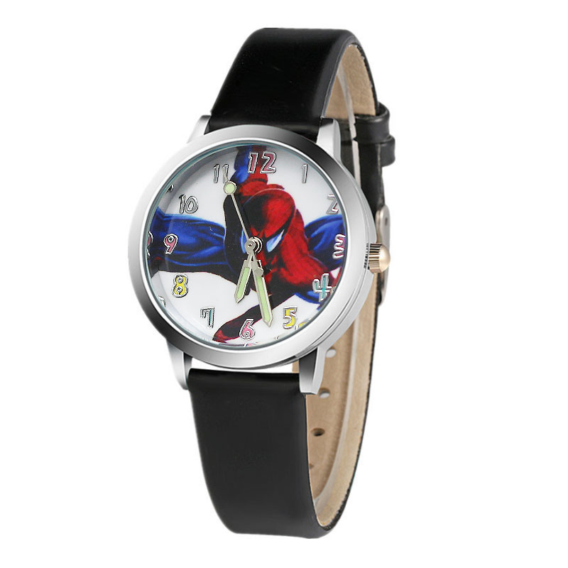 Hot koop cartoon spiderman horloge kinderen horloges Lederen - Kinderhorloges - Foto 2