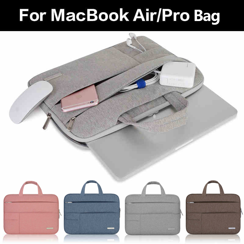 BESTCHOI 11.6 13.3 15.4 inch Laptop Sleeve Handbag for Macbook Air 13 11 New 12 Notebook Bag for Macbook Pro Retina 13 15 Case 2016 laptop sleeve bag case pouch cover for 11 13 inch macbook air 12 macbook 13 15 macbook pro retina ultrabook notebook
