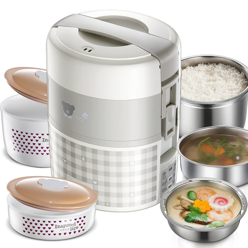 2L Multi Cookers Scheduled Time Reserved Cooking Lunch Box Rice Cookers Electric Food Steamers