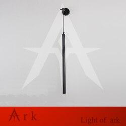 Dia 3cm osobowość twórcza sypialnia lampka nocna led cylindryczna czarna pojedyncza główka ramy korytarz korytarz dekoracyjne kinkiety w Wewnętrzne kinkiety LED od Lampy i oświetlenie na