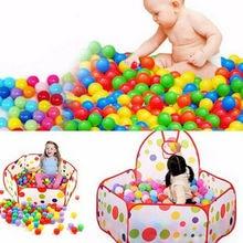 Новинка,, 20/100 шт, качественная безопасная игрушка для маленьких детей, игрушка для купания, Забавный Красочный мягкий пластиковый Океанский шар, 50 мм