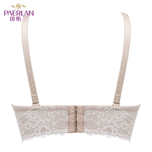 Image 2 - PAERLAN Wire Free Seamless lace bra dress 1/2 half a cup of small chest strap B women underwear