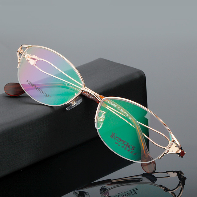 aa3655dc4a Ma am Myopic Eye Picture Frame Titanium Alloy Business Affairs Hyperopia  Astigmatism Glasses Fashion Woman