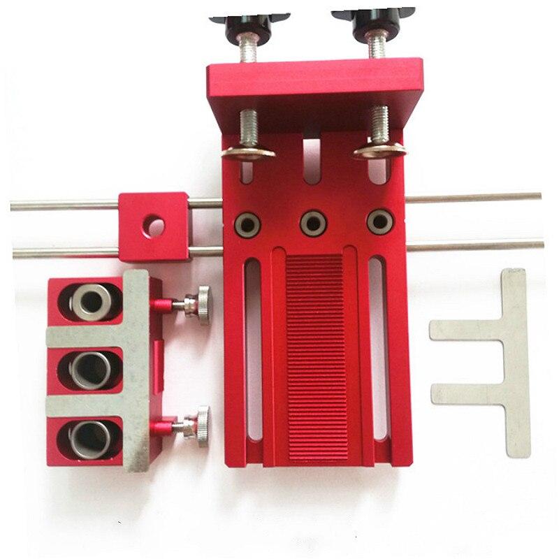 Encavilhar Gabarito para Móveis de Conexão Rápida Cam Montagem 3 Em 1 Carpintaria Broca Guia Kit Localizador de Liga de Alumínio