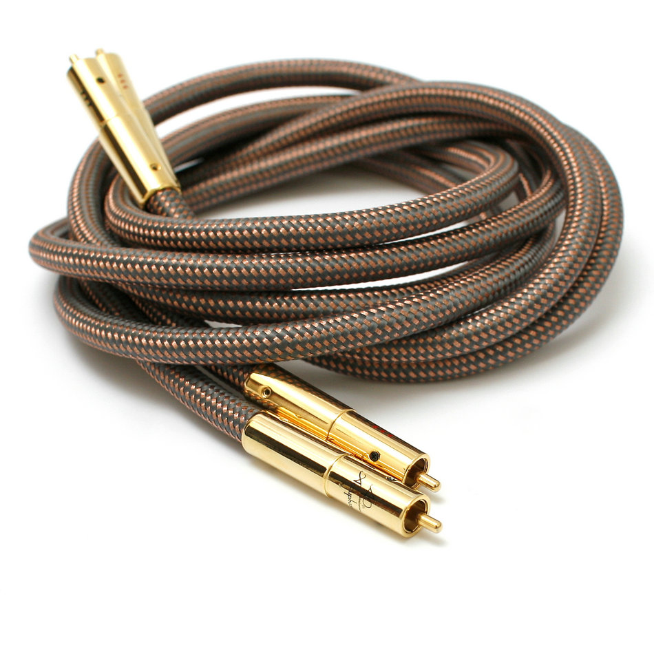 A pair Accuphase 40th Anniversary Edition OCC pure copper RCA Interconnect Audio Cable Gold plated plug