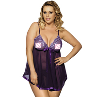 Plus Size Design Fashion Dress And G String Sexy Lingerie Hot Teddy With Handcuff Lingerie Top Selling Sexy Lingerie 5 Colours
