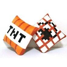 Hot Minecraft TNT Plush Pillow 10cm 20cm 40cm Minecraft Toys TNT Pillow Children Toys Birthday Gift