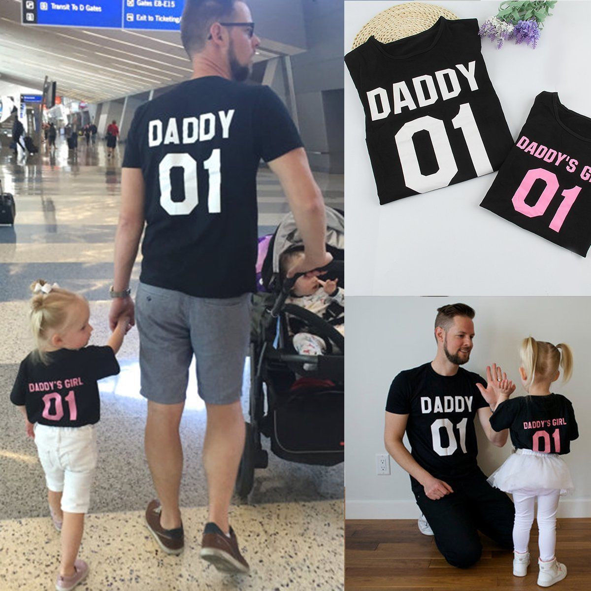 55830da5 2017 Family T-Shirts DADDY & DADDY'S GIRL Father & Daughter T shirt Tops  Family