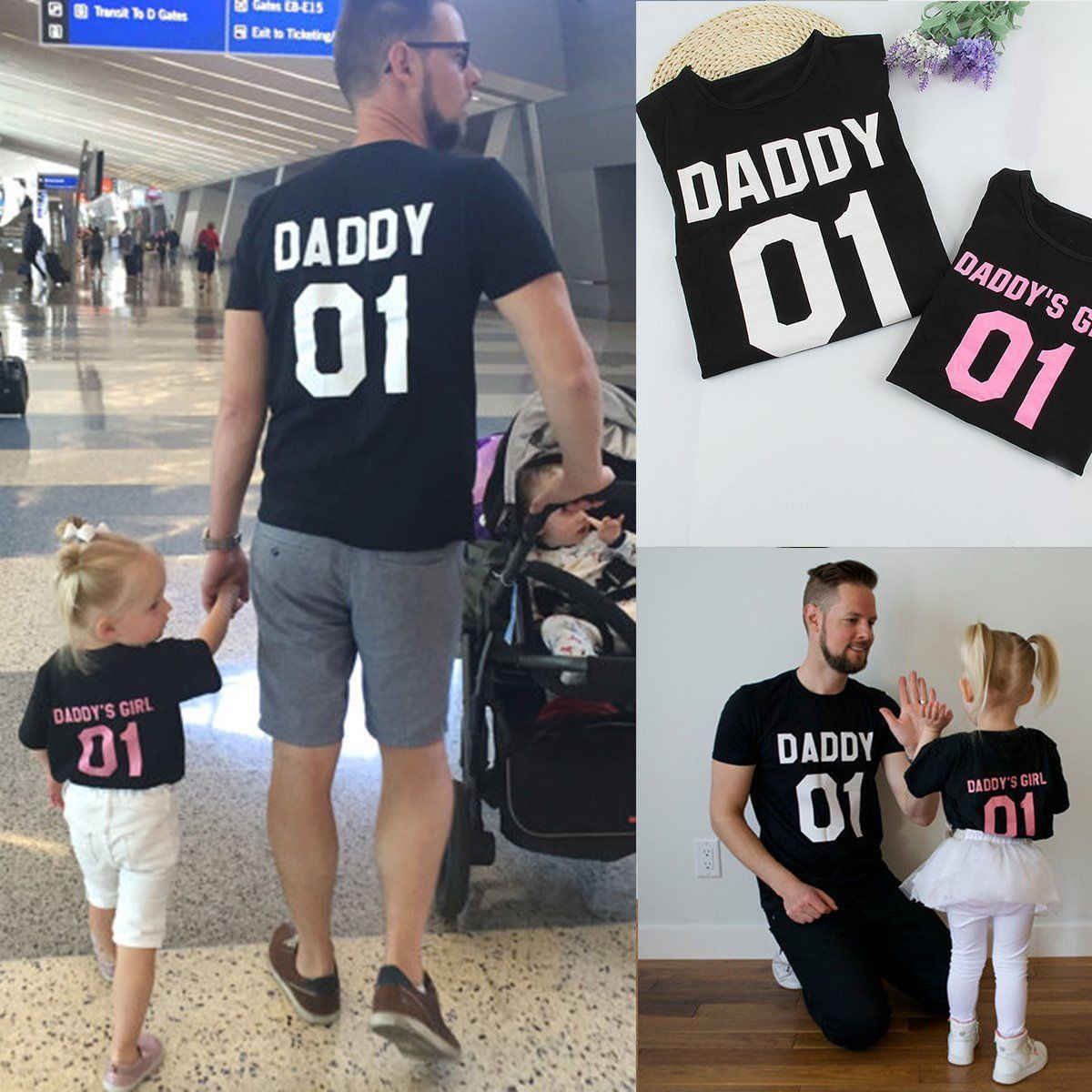49b1450e 2017 Family T-Shirts DADDY & DADDY'S GIRL Father & Daughter T shirt Tops  Family