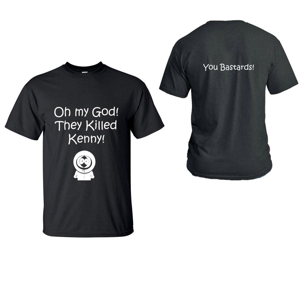 Party T Shirts Short Sleeve Gift They Killed Kenny! You Bastards! O-Neck Mens Shirts