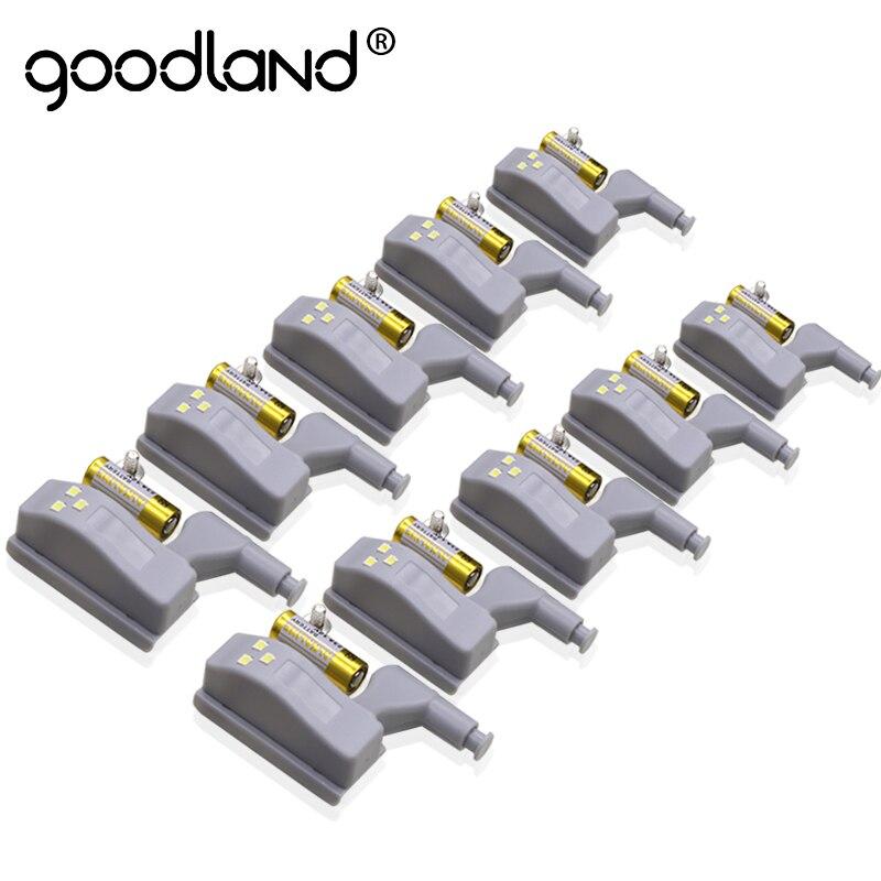 Goodland светодиодная подсветка под шкаф датчик шкаф свет универсальный Led Armario с батареей для кухонный шкаф буфет ночник