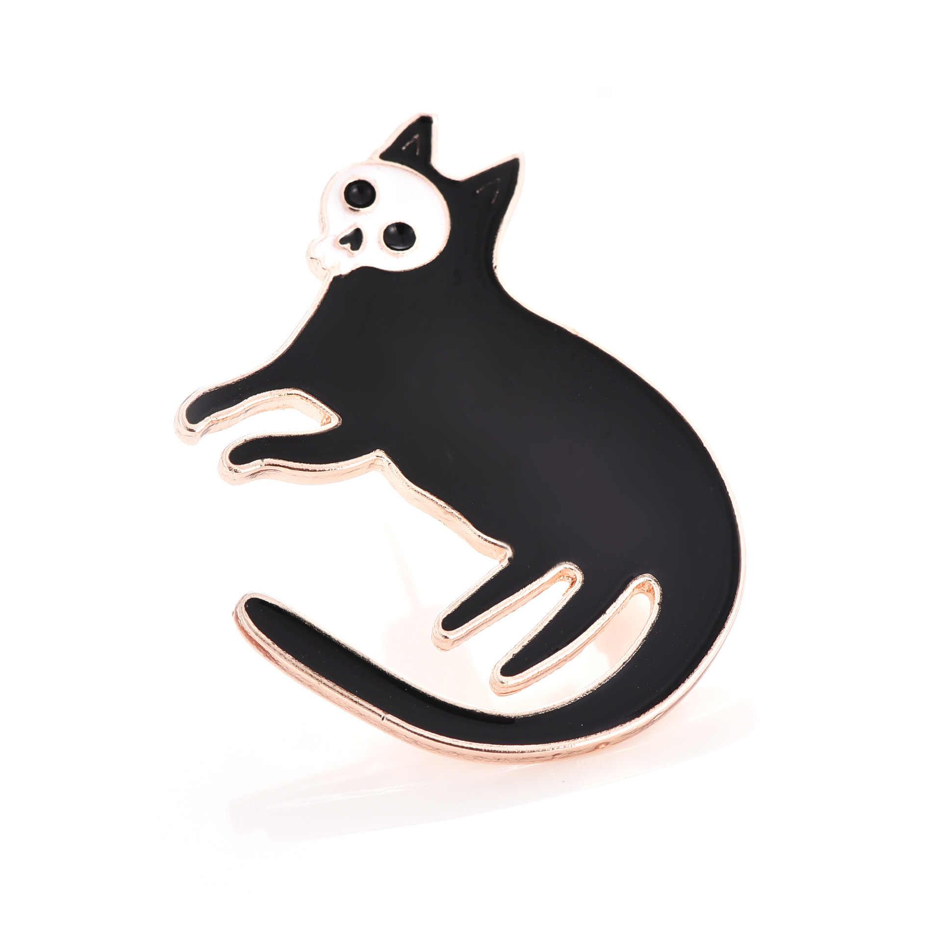 Mightier Pen Ghost Cats Brooches Enamel Pin for Boys Girls Lapel Pin  Hat/bag Pins Denim Jacket Shirt Women Brooch Badge Q258