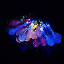 5m Solar Powered Water Drop String Lights LED Fairy Light 20LED for Outdoor Indoor Decoration Wedding Christmas Party Festival