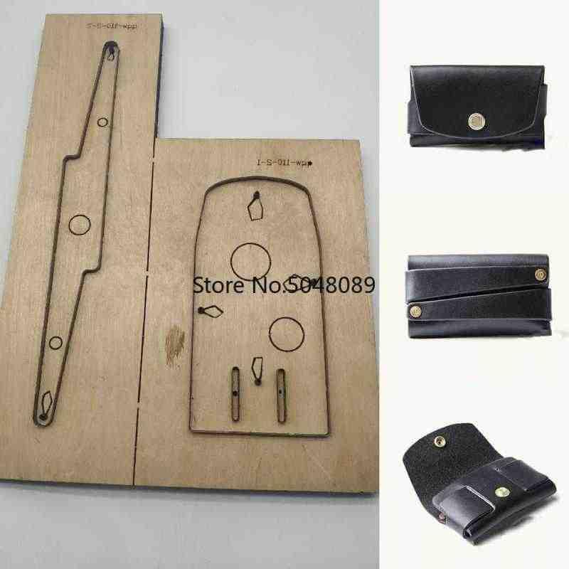 יפן פלדת להב DIY מלאכת עור תבנית כרטיס מחזיק תיק מסמרת להתחבר ארנק למות חותך חיתוך סכין עובש יד אגרוף כלי