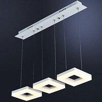 Квадратный Акрил современный подвесной светильник домашние Освещение обеденный Гостиная hanglamp led подвесной светильник