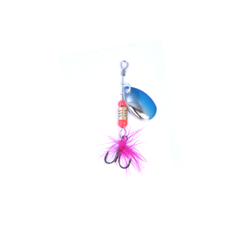 Image 5 - OLOEY Fishing Spinner Fishing Lures Wobblers CrankBaits Jig Shone Metal Sequin Trout Spoon With Feather Hooks for Carp Fishing-in Fishing Lures from Sports & Entertainment