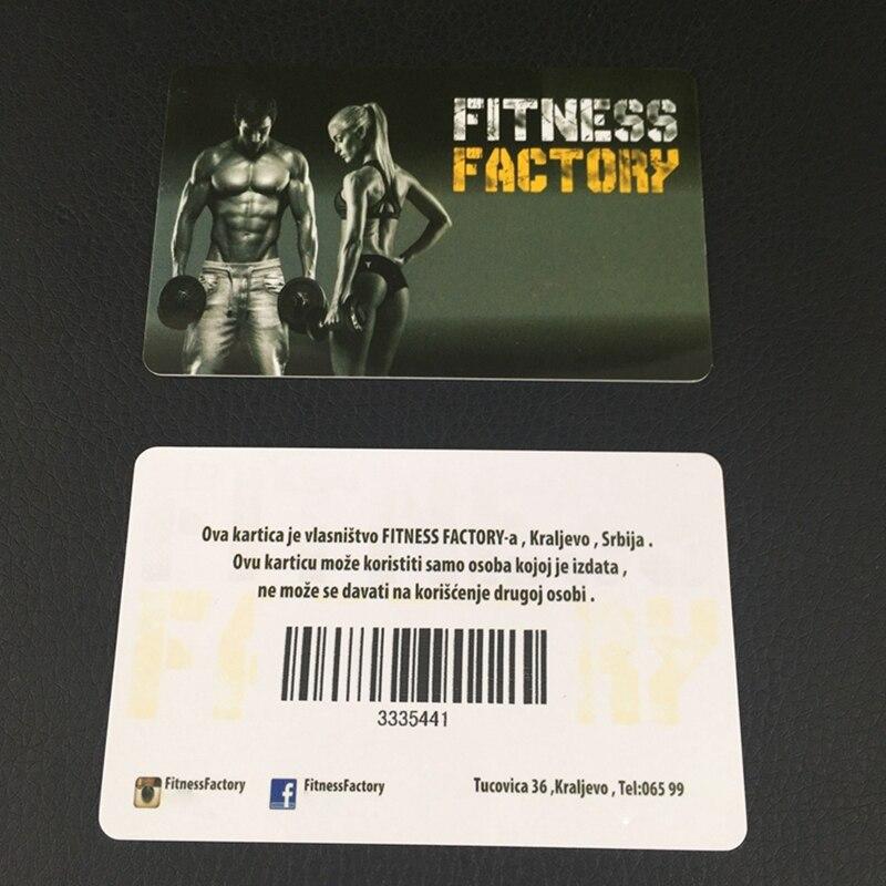 100pcs/ design custom barcode business card 85.5*84mm plastic pvc ...