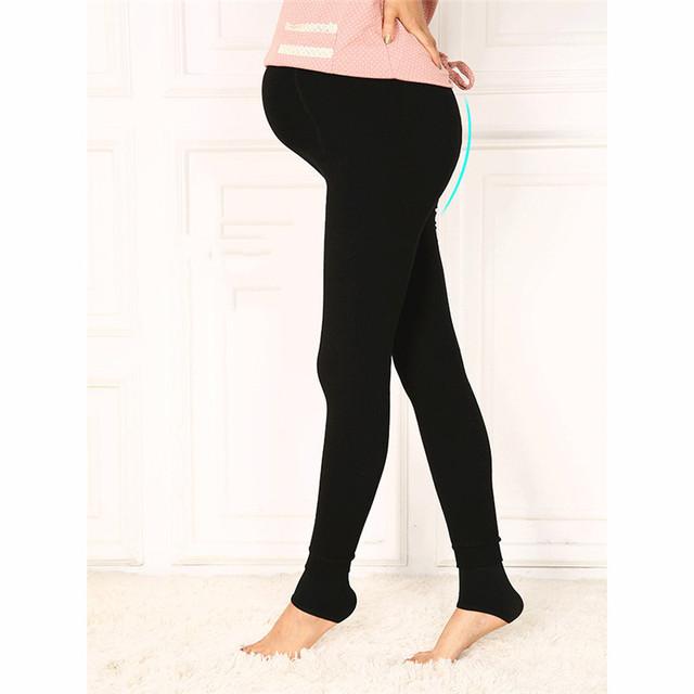 Veludo Espessamento Morno do Inverno Leggings Maternidade Calças Para Mulheres Grávidas de Cintura Alta Calças de Gravidez Ajustável