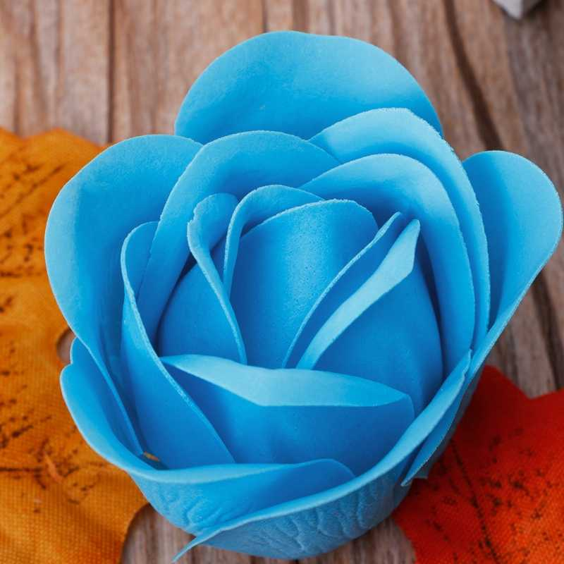 3Pcs/Set Rose Petal Flower Scented Bath Soap + Heart Shape Box For Wedding Gift Random color New