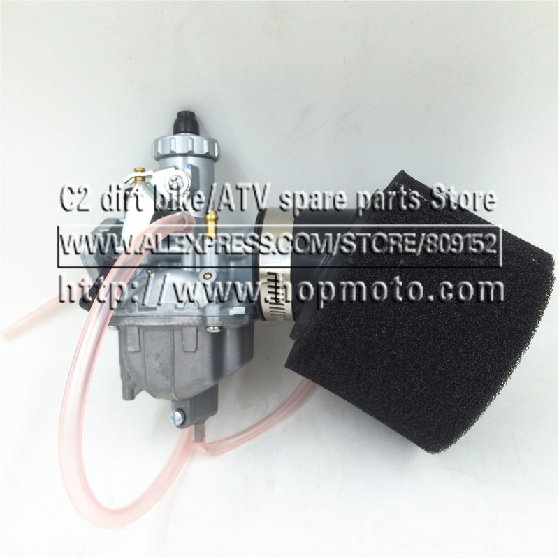 26mm Carburetor VM22 Carb + black 38mm Air Filter For Lifan YX Zongshen 110cc 125cc Engine Chinese Mikuni Pit Dirt Bike ATV