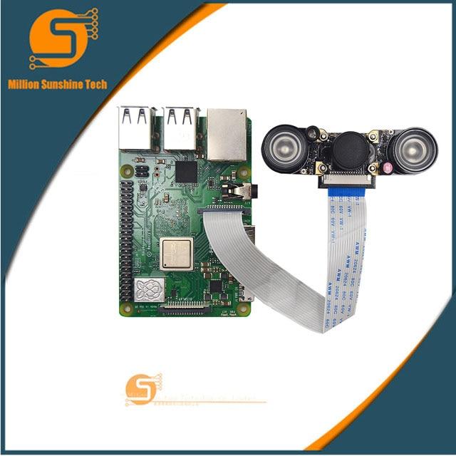 Raspberry Pi 3 Night Vision Fisheye Camera 5MP OV5647 130 Degree Focal Adjustable Camera For Raspberry Pi 3 Model B Plus