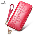LAZYLIFE 2017 Casual High-Capacity Women Wallets Lingge Metal Crown Lady Long Day Wallet High Quality Purse For Women Girls