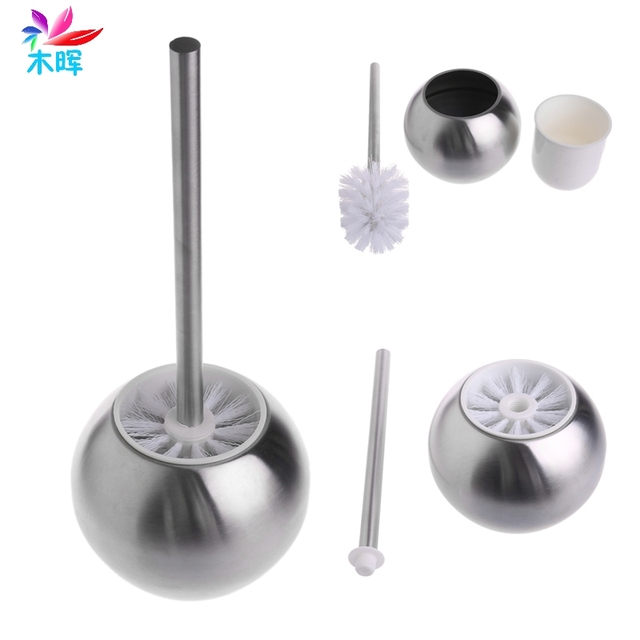 2017 Stainless Steel Toilet Bowl Brush Bathroom Cleaning Tool Holder With Base APR10_35