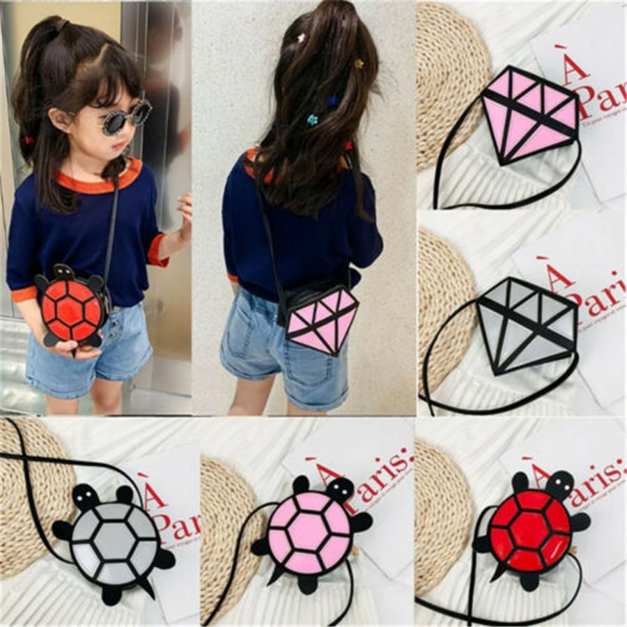 Cartoon Kids Children Girls PU Leather Shoulder Bag Messenger Crossbody Handbag Baby Kids Mini Coin Purse Pocket Money Bag