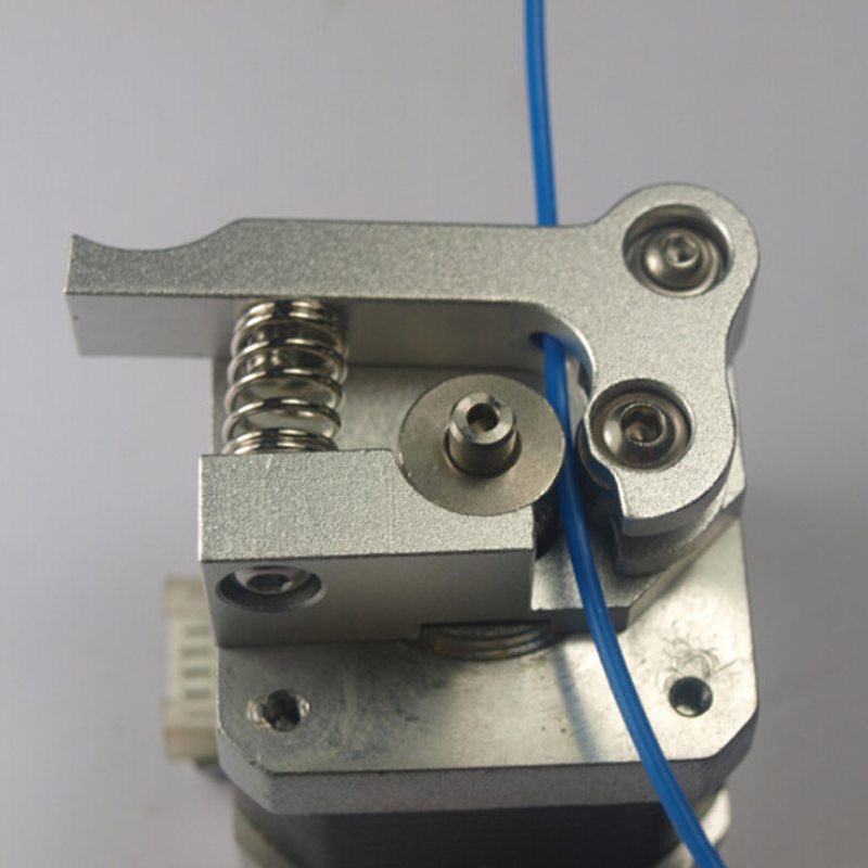 ФОТО 3D printer extruder left hand side upgrade edition full metal aluminum left way extrusion Compatible with Makerbot Replicator 2