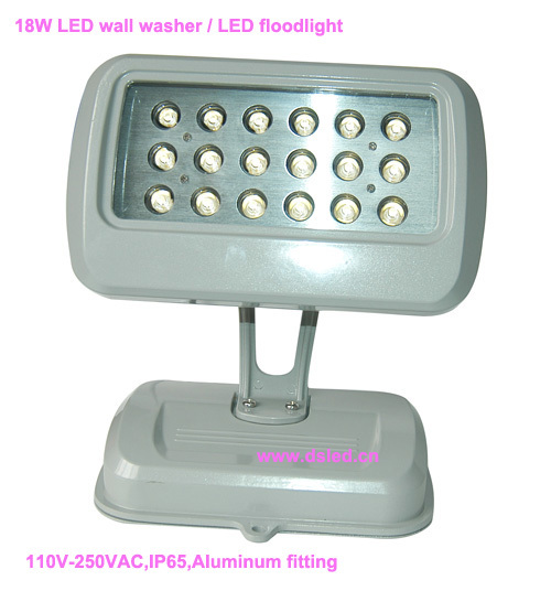 CE,IP65,good quality,high power 18W LED projector light,LED wall washer,DS-T37-18W,110V-250VAC,18X1W,EDISON chip,2-year warranty