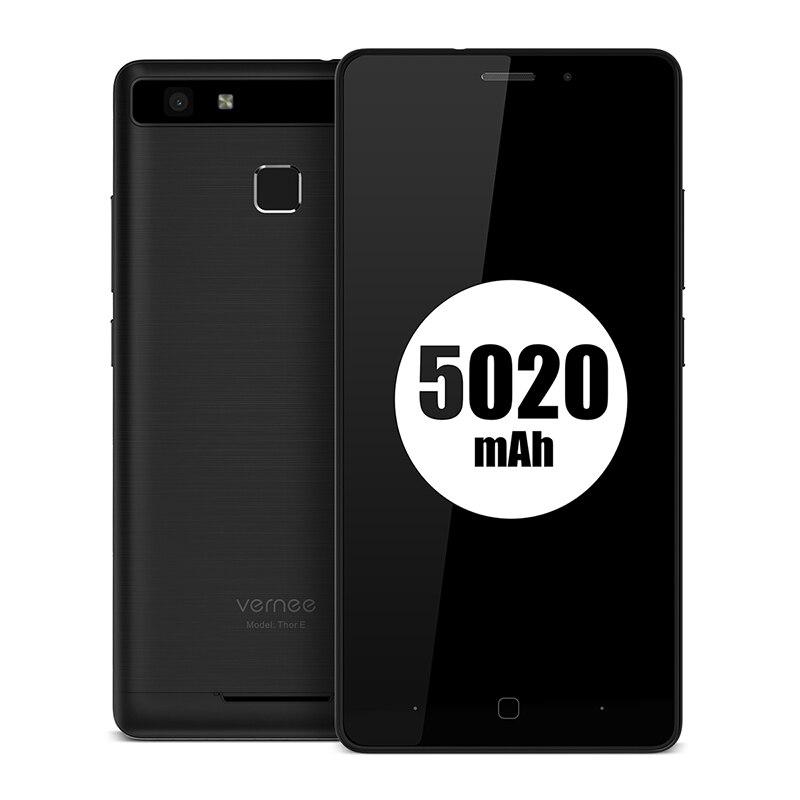"Vernee Thor E 5"" HD 4G LTE MTK6753 Octa-Core Android 7.0 3G RAM 16G ROM 5020 mAh Fingerprint Smartphone"