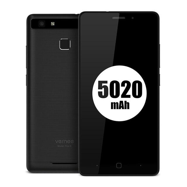 "Vernee Thor E 5"" HD 4G LTE Mobile Phone MTK6753 Octa-Core Android 7.0 Cell Phones 3G RAM 16G ROM 5020 mAh Fingerprint Smartphone"