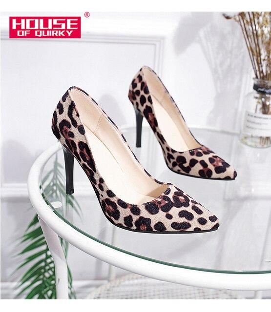 Luipaard/Женская обувь с принтом Schoenen Vrouwen, супер Леопардовый принт, каблук 9 см, женские туфли-лодочки на каблуке Leopardo Zapatos, большие размеры 34-41
