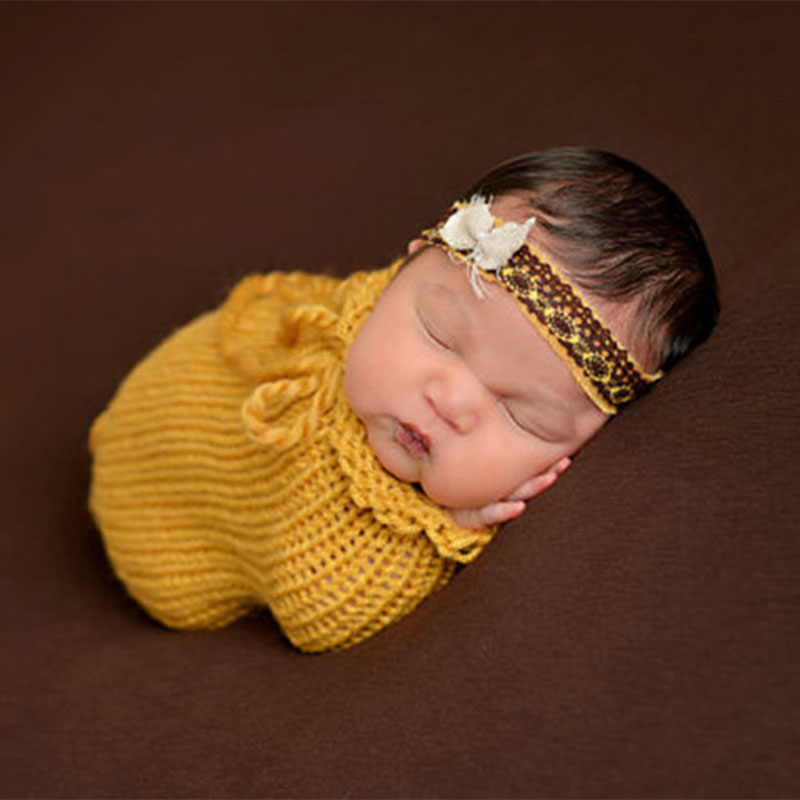 Knit doctor costumes for infant girls and boys crochet baby photos shoot clothes