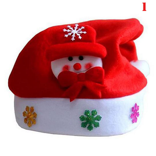 edf447f3 US $1.84 |Merry Christmas Cap Santa Claus Reindeer Snowman Xmas New Year  Gifts Party for Home Decoration Children Boys Girls Gifts-in Christmas Hats  ...