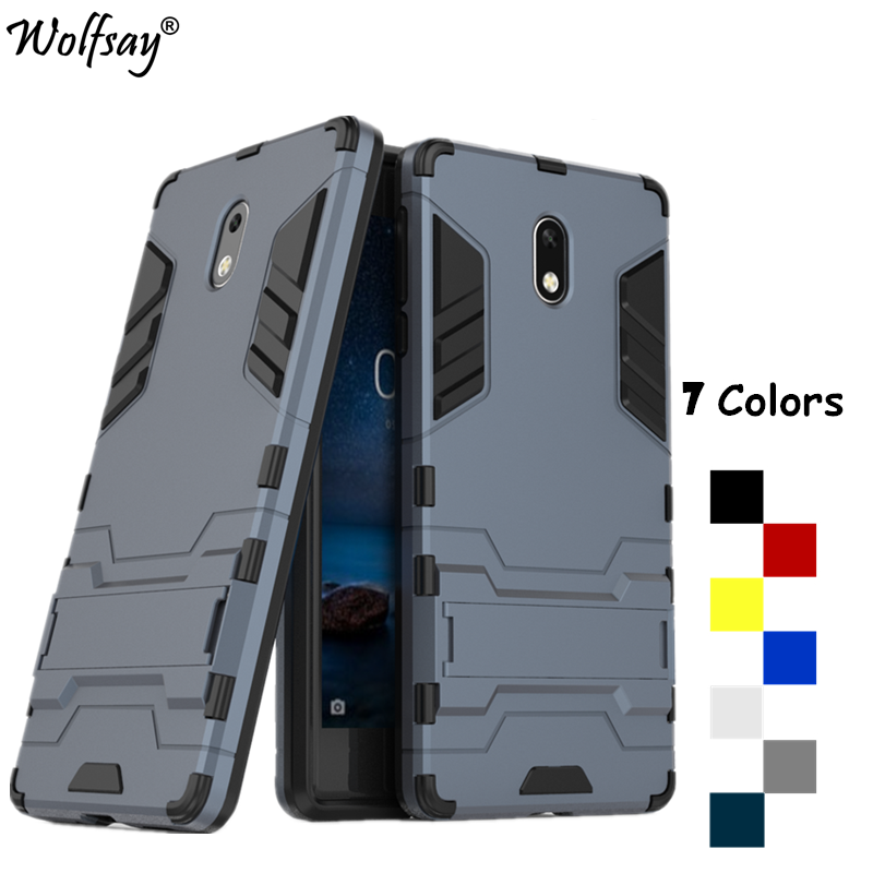 Wolfsay sFor Cover <font><b>Nokia</b></font> <font><b>3</b></font> <font><b>Case</b></font> Silicone Robot Armor Phone <font><b>Case</b></font> For <font><b>Nokia</b></font> <font><b>3</b></font> Cover For Nokia3 TA-1020 TA-<font><b>1032</b></font> <font><b>Case</b></font> 5.0 inch Shell image